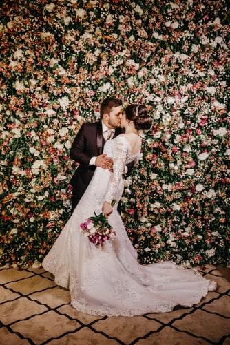 Blomstervegg til bryllup Villa Lilleborg